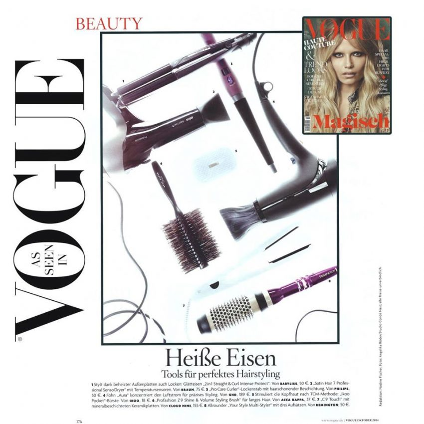 VOGUE <br> Tools für perfektes Hairstyling