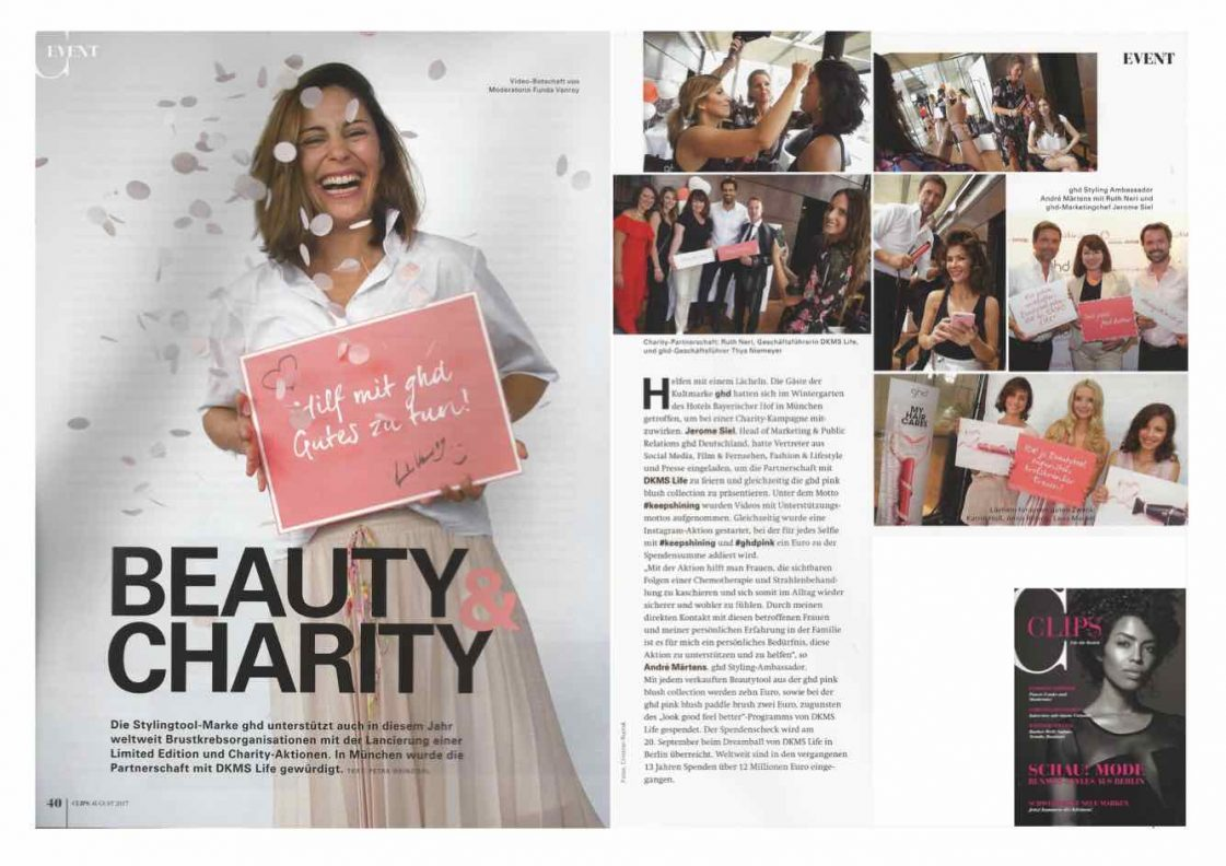 CLIPS <br> Event <br> ghd Beauty &#038; Charity